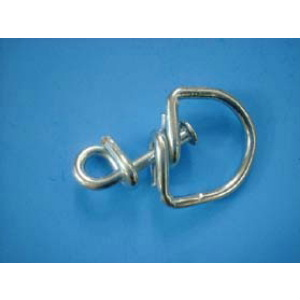 Nylon hitch on nylon tie cord with metal swivel - for Chicken 5 feet Each